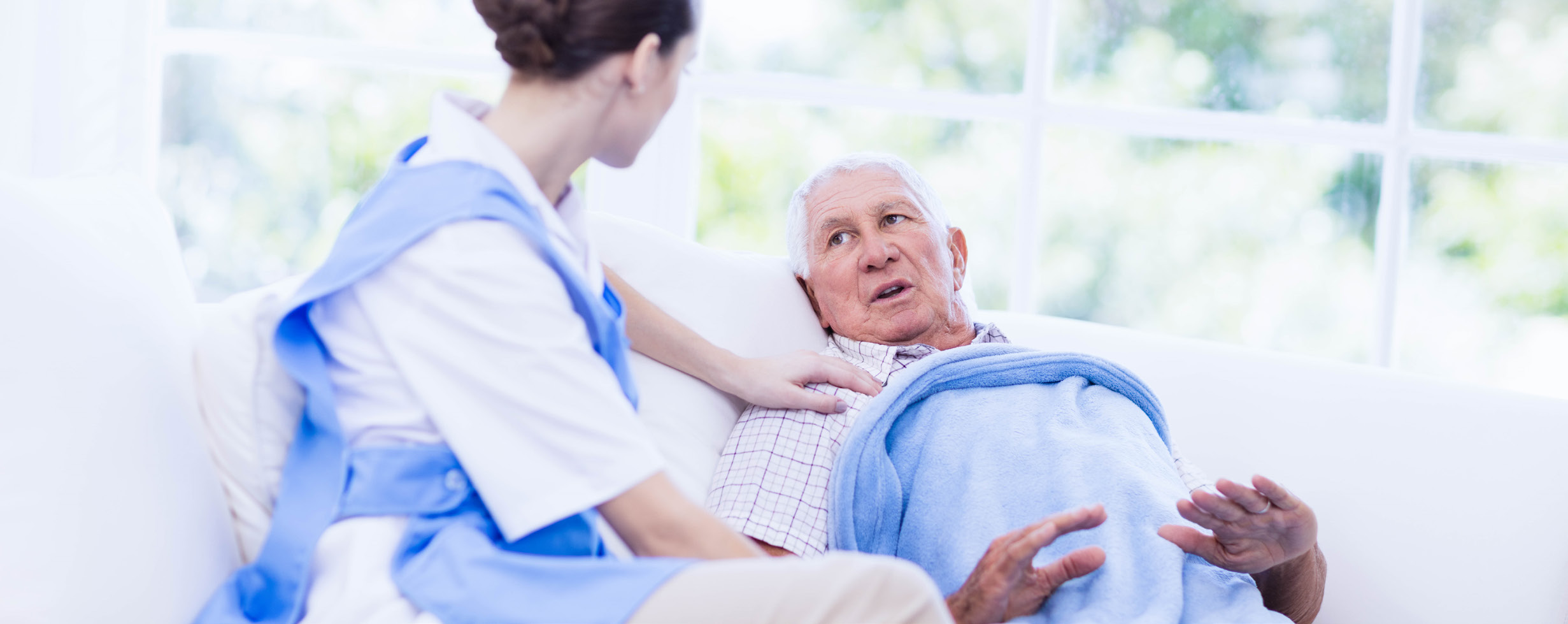 Aged Care Worker and Patient